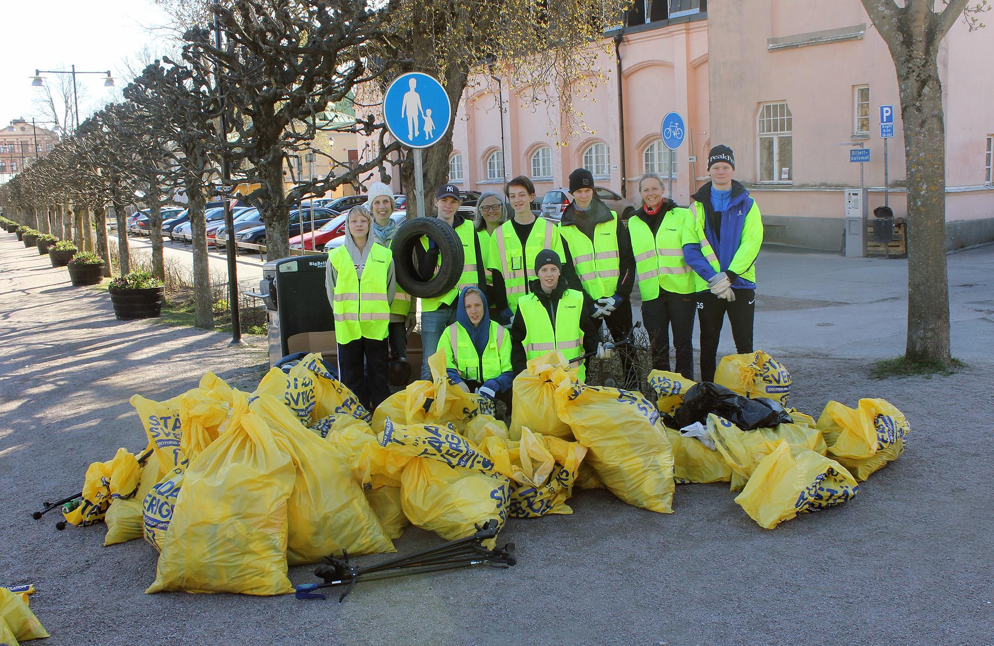 Lokala föreningar städar Uppsala under Valborg