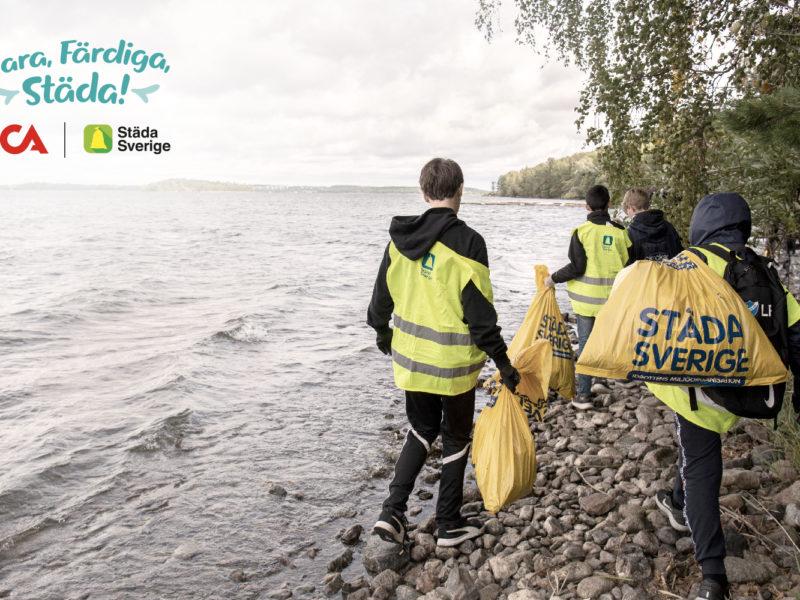 Klara, färdiga, städa! med ICA och Städa Sverige