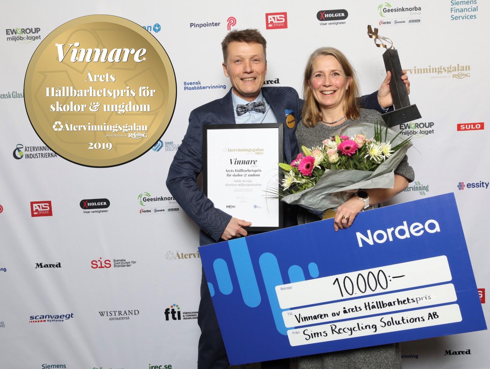 Årets hållbarhetspris för skolor och ungdom till Städa Sverige