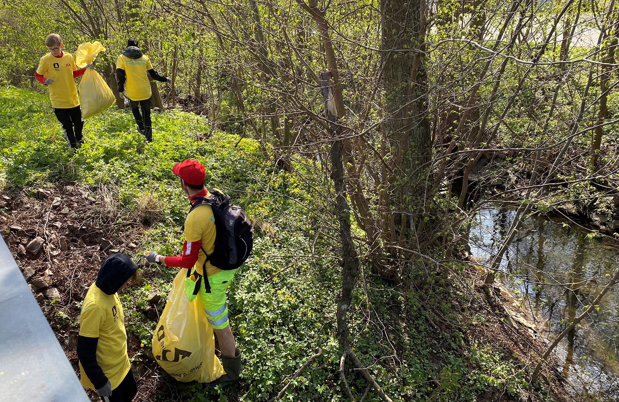 Städning på 42 orter resulterade i 1 023 säckar skräp mindre i naturen