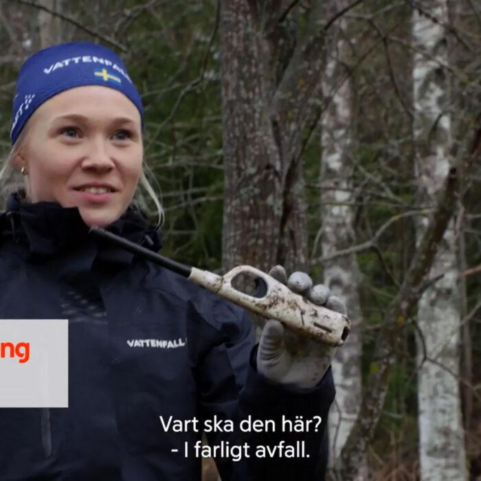 Ski Team och Ås IF gör miljöinsats i Klara, färdiga, städa!